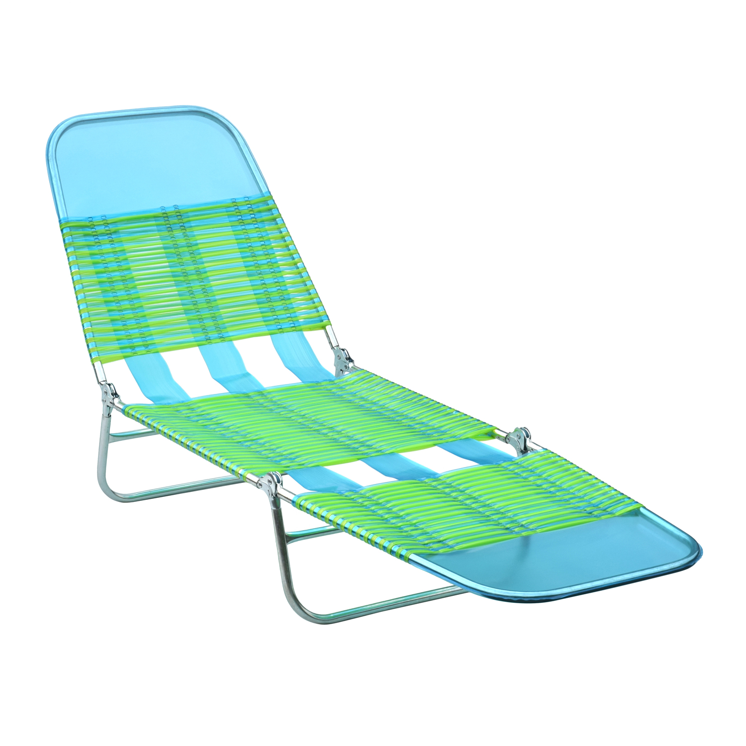 Mainstay Folding Beach Jelly Lounge-Blue/Lime Green ...