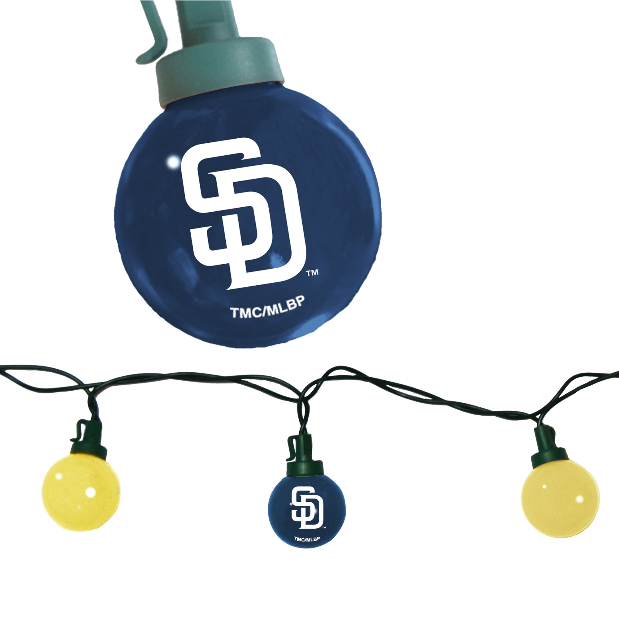 San Diego Padres 8' Team Tailgate String Lights - No Size