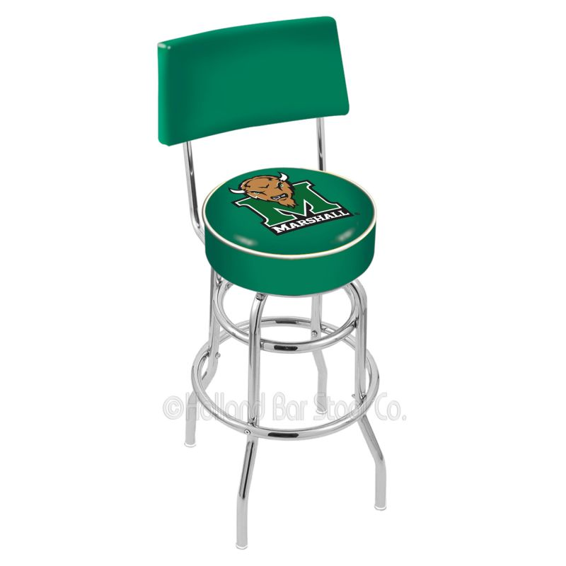 Holland Bar Stool L7c4 College Logo Double Ring Swivel Bar Stool With Back