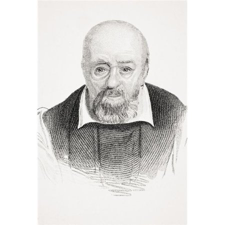 George Buchanan 1506-1582 Scottish Humanist Historian & Scholar From Old Englands Worthies by Lord Brougham & Other Poster Print, Large - 22 x 34 - image 1 of 1