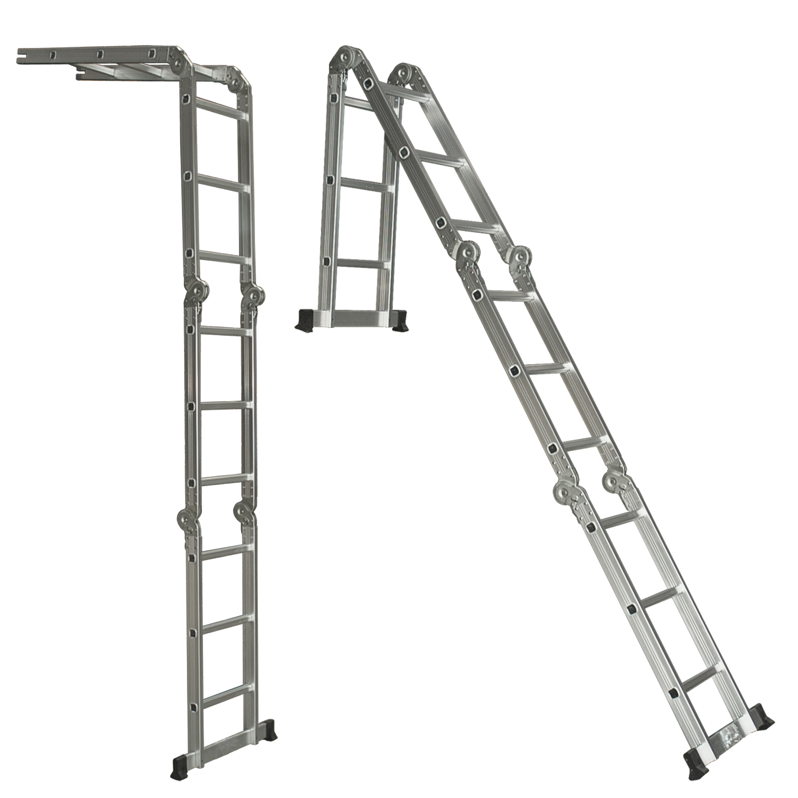 Multi Purpose Aluminum Ladder Folding Step Ladder Extendable Heavy ...