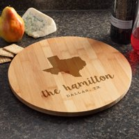 Home State Personalized Wood Lazy Susan
