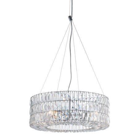 Modern Contemporary Urban Design Living Room Kitchen Ceiling Lamp, Chrome - Crystal Metal