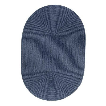 Rhody Rug S102A018X036 Solid Wool Slice Rug Sailor Blue - image 1 of 1