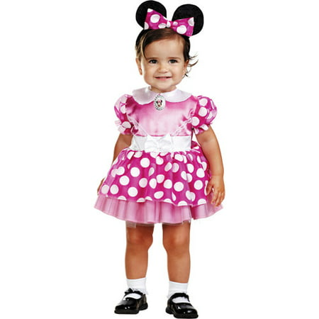Minnie Mouse Infant Halloween Costume - Size 12-18 Months (Pink Minnie Mouse Halloween Costume)