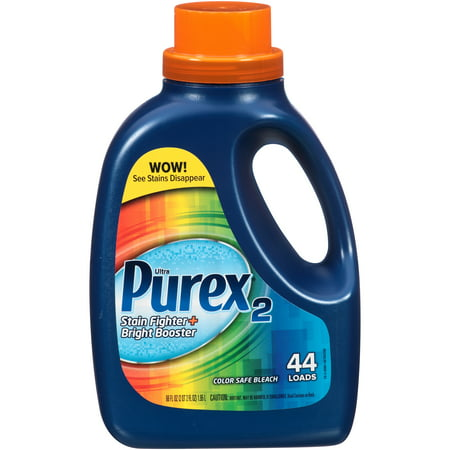 Purex2 Liquid Color Safe Bleach, Stain Fighter and Bright Booster, 66 Ounce (Non Chlorine Bleach Powder)