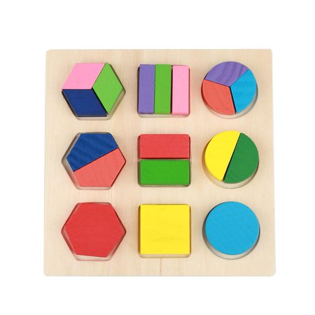 TOPINCN Kids Educational Wooden Toy Set Geometric Block Building Puzzle Baby Early Learning Tool, Wooden Block Toy, Wood building Blocks - image 3 de 7