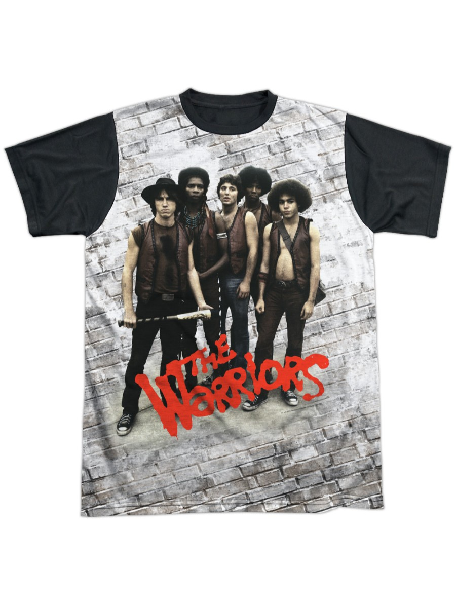 Warriors Pose Adult All Over Print T-shirt With Black Back