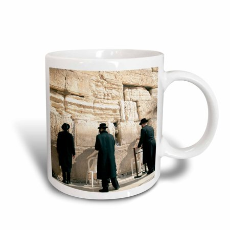 Jerusalem Wash Cup - 3dRose Israel, Jerusalem, Orthodox men pray, Western Wall - AS14 DNY0031 - David Noyes - Ceramic Mug, 11-ounce