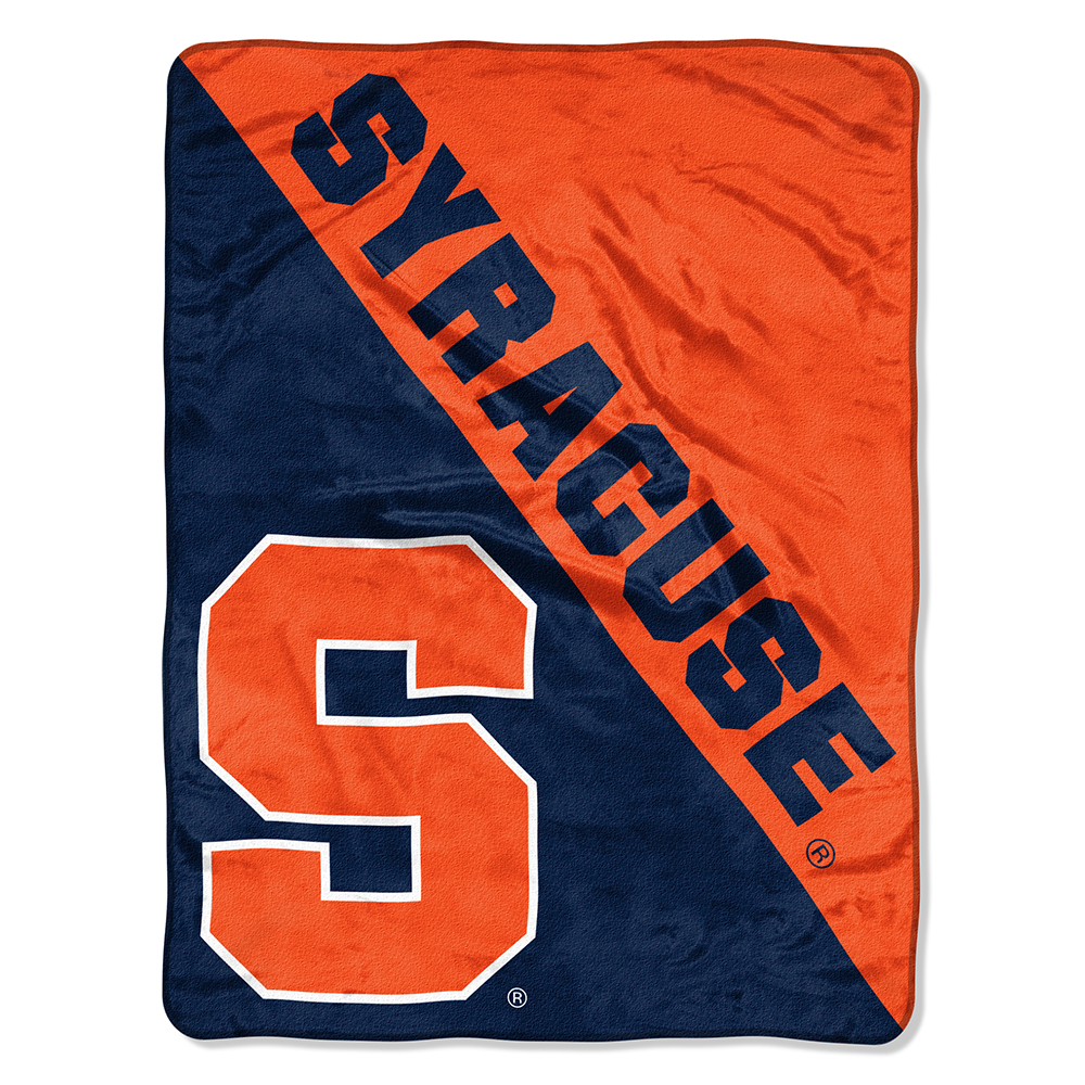 "NCAA Syracuse Orange ""Halftone"" 46""x 60"" Micro Raschel Throw"