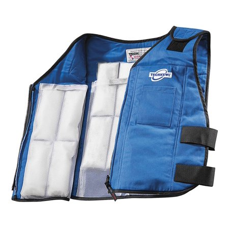 Techniche Cooling Vest, Polyester Outer, Cotton Inner, With Thermal Liner, Blue, 2XL - 6626-BLUE2XL ()
