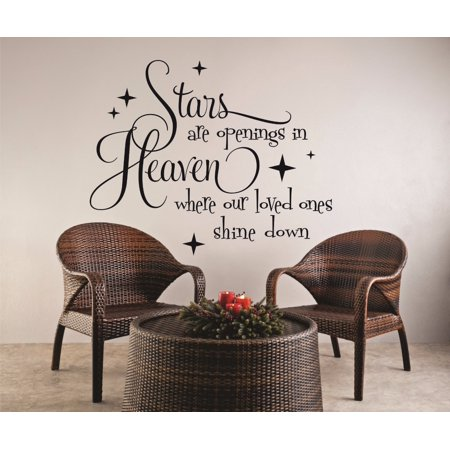 Custom Designs Stars Are Openings In Heaven Where Our Loved Ones