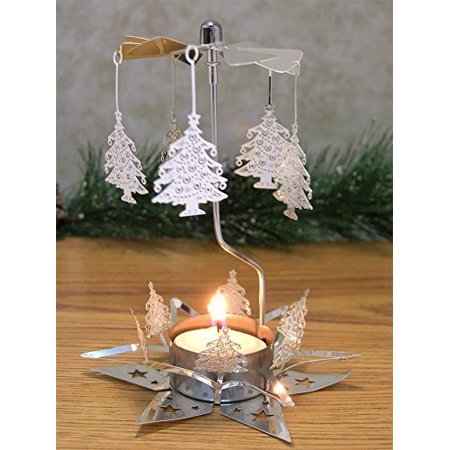 Christmas Tree Silver Laser Cut Spinning Candle Holder - Scandinavian  Design - Tea Light Candle Holder - Rotary Candle Holders - Walmart.com - Christmas Tree Silver Laser Cut Spinning Candle Holder