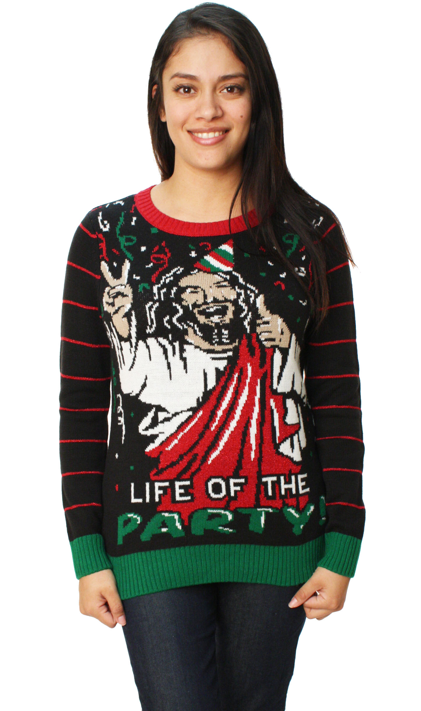 Ugly Christmas Sweater - Ugly Christmas Sweater Women\'s Jesus Is The ...
