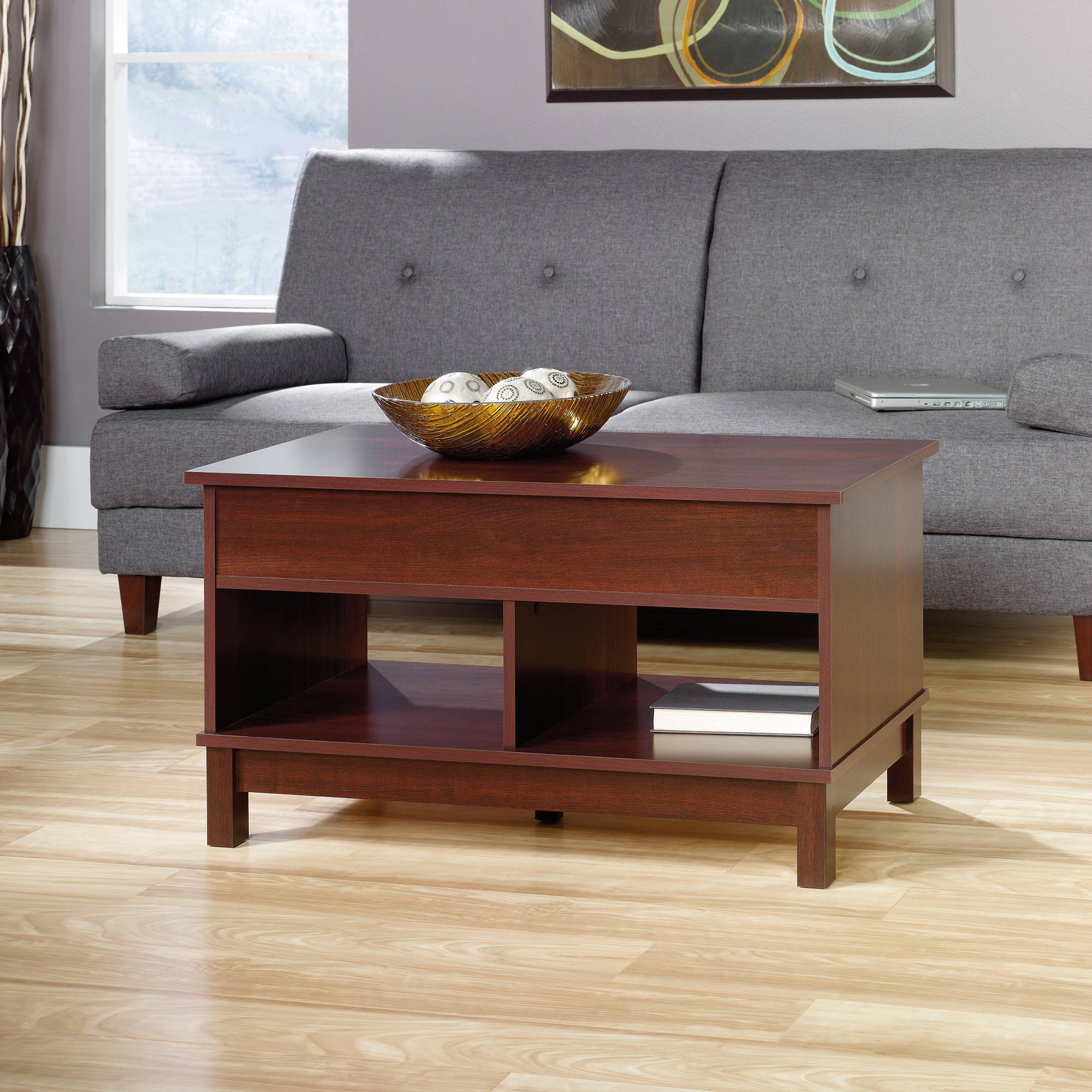 Sauder Kendall Square Lift Top Coffee Table, Cherry
