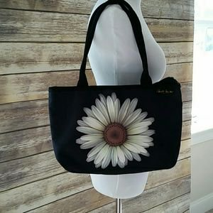 Coynes Harold Feinstein Large Daisy Tote 18 X 14 Wipes Cleam With Damp Cloth