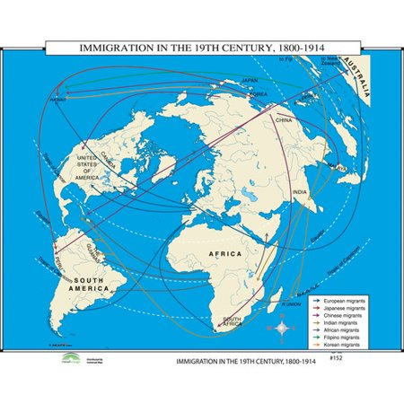 1800 Map Of The World.Universal Map World History Wall Maps Immigration In 19th Century