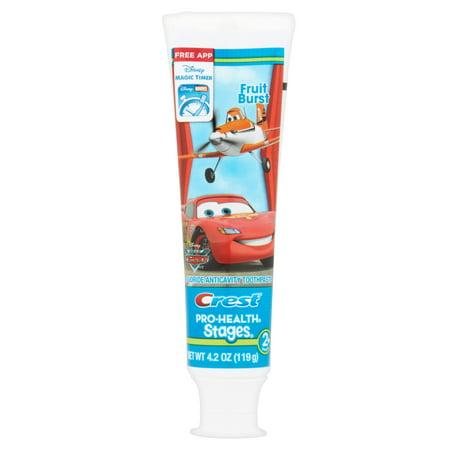 Crest Stages Pro-Santé Enfants Dentifrice avec Disney Pixar Cars et avions Disney avec MagicTimer App par Oral-B, 4,2 oz