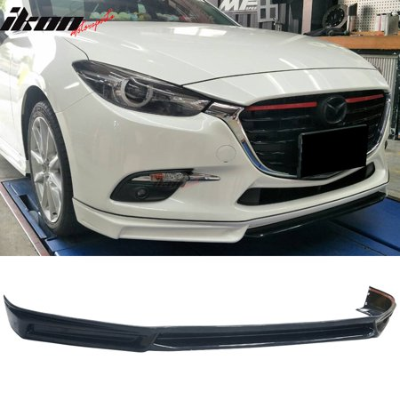 - Fits 17-18 Mazda 3 4Dr 5Dr MK Style Front Bumper Lip - ABS