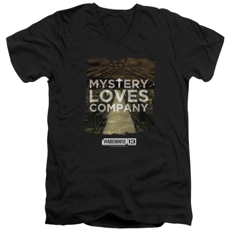 Warehouse 13 Mystery Loves Mens V Neck Shirt