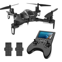 Holy Stone HS230D RC Racing Drone with 120° FOV 720P HD Camera and Video High Speed Wind Resistance Quadcopter with Altitude Hold Function 5.8G LCD Screen Real Time Transmitter Bonus Battery
