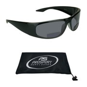 proSPORT BIFOCAL reading Sunglasses for Men and Women. Sporty Wraparound Full Frame with Nearly Invisible Line