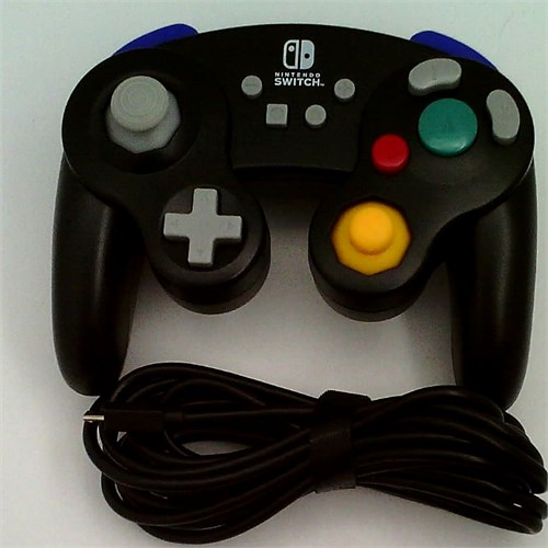 Refurbished PowerA Wired Controller for Nintendo Switch - GameCube Style: Black - Nintendo Switch