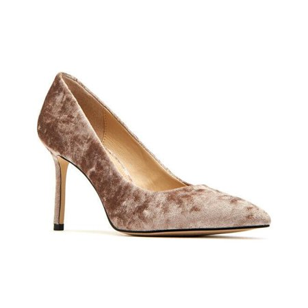 Katy Perry The Sissy Crushed Velvet Taupe Pump, Size 5.5 M