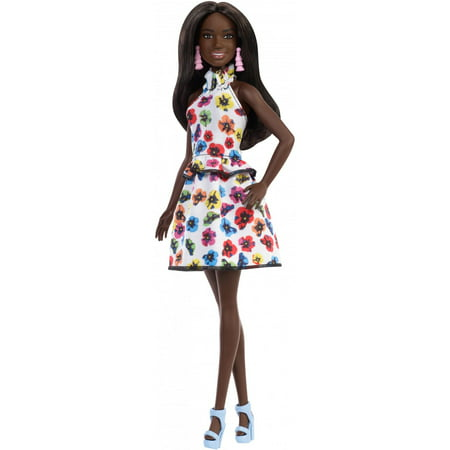 Barbie Fashionistas Doll, Original Body Type with Floral Dress - Broken Doll Dress