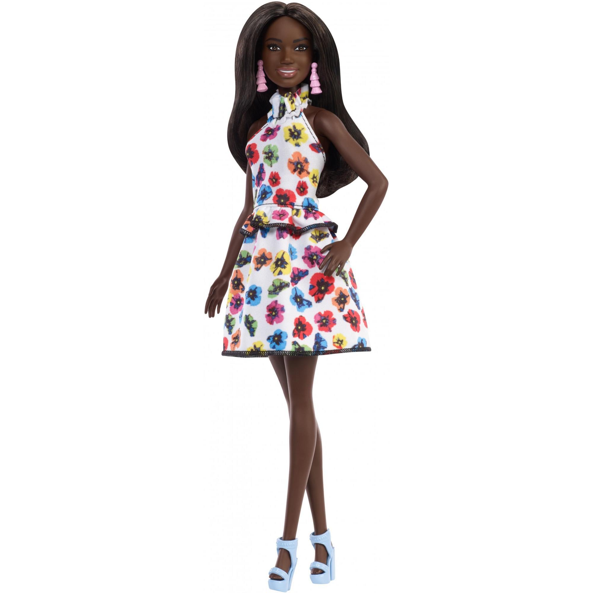 Barbie Fashionistas Doll, Original Body Type with Floral Dress