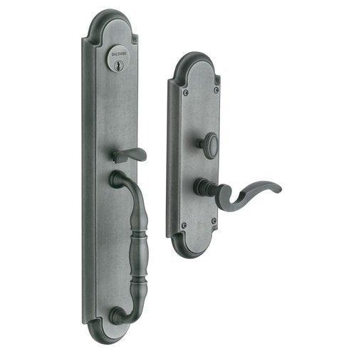 Baldwin  6544.RENT  Keyed Entry  Hamilton  Mortise Lock  Single Cylinder  ;Distressed Antique Nickel