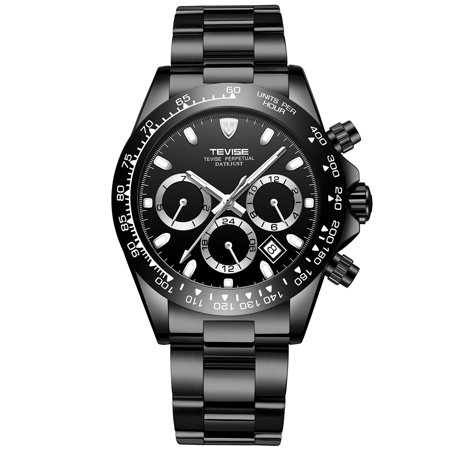 TEVISE T822A Business Men Automatic Mechanical Watch Time Week Month Display Calendar Fashion Casual Luminous Hands Stainless Steel Strap Life Waterproof Male Wristwatch