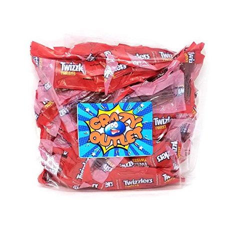 - Twizzlers Twist Strawberry, Snack Size, Individually Wrapped, 3 pounds bag