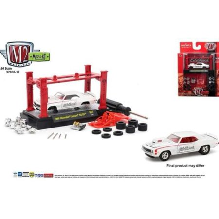 M2 MACHINES 1:64 MODEL KIT AUTO-LIFT RELEASE 17 - 1969 CHEVROLET CAMARO RS/SS - EDELBROCK (WHITE) 37000-17E