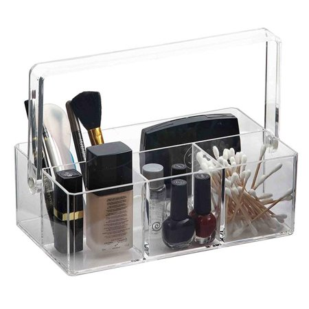 Home Basics MH41393 Plastic Makeup Jewelry Organizer Tray, Clear for $<!---->