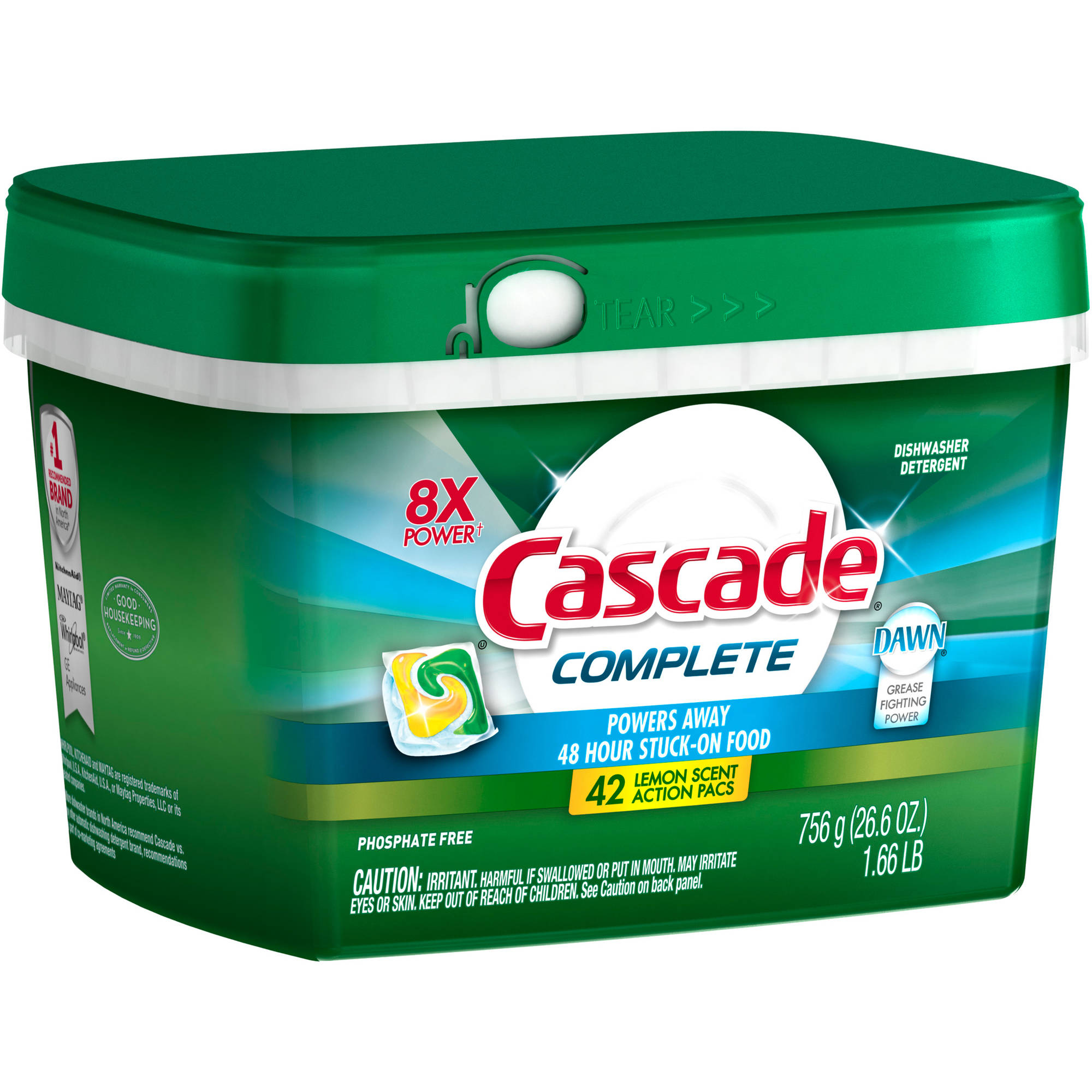 Cascade Complete ActionPacs Dishwasher Detergent Lemon Burst (choose your size)