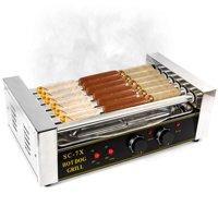 KapscoMoto HOM-019 Hot Dog Grill Roller Commercial 18 Maker Warmer Cooker Machine - Stainless Steel