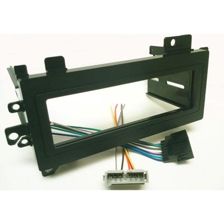 Dash kit and wire harness for installing a new Single Din Radio into Jeep Cherokee Wiring Harness Kit on