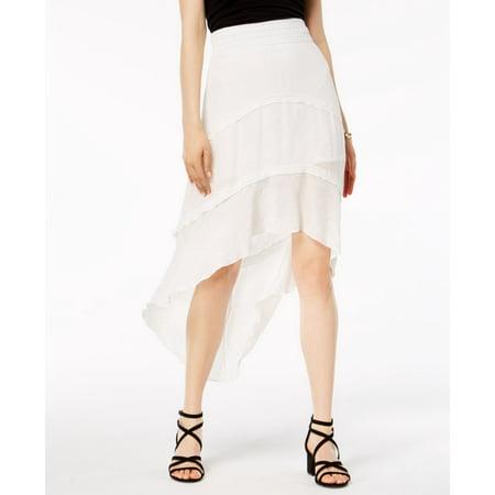 Amy Byer Spandex Skirt - A. Byer Junior Hi-Low Tiered Asymmetrical Skirt