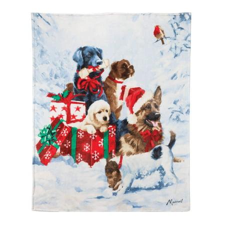 Safdie & Co. Christmas Throw Blanket 50