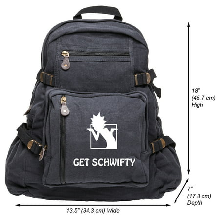 Get Schwifty Heavyweight Canvas Backpack Bag