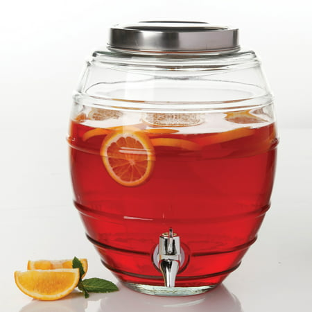 - General Store 2 Gal. Glass Beverage Dispenser with Lid