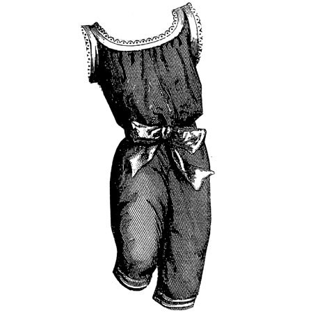 Sewing Pattern: 1893 Red Bathing Suit for Child 5-7 Years Pattern ()