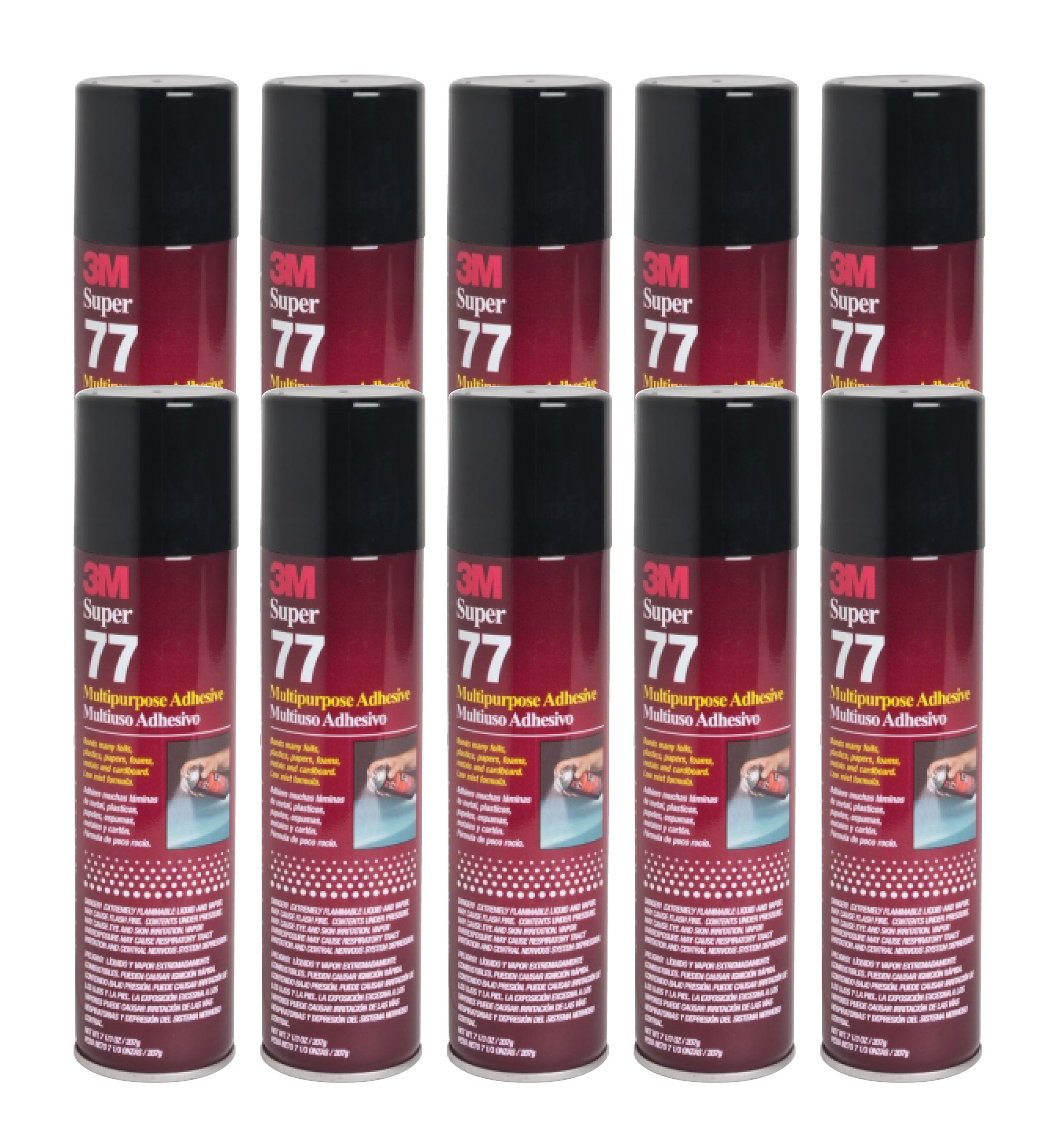 QTY 10 3M 7.3 oz SUPER 77 SPRAY Glue Multipurpose Bond Adhesive for Chevron Fabric