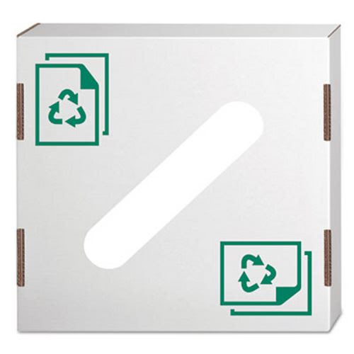 Bankers Box Waste and Recycling Bin Lid, Paper, White, 10/Carton (FEL7320301)