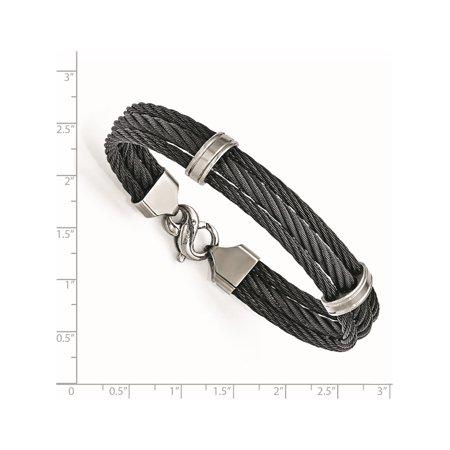 Edward Mirell Titanium Three Row Cable Bracelet - image 2 de 3