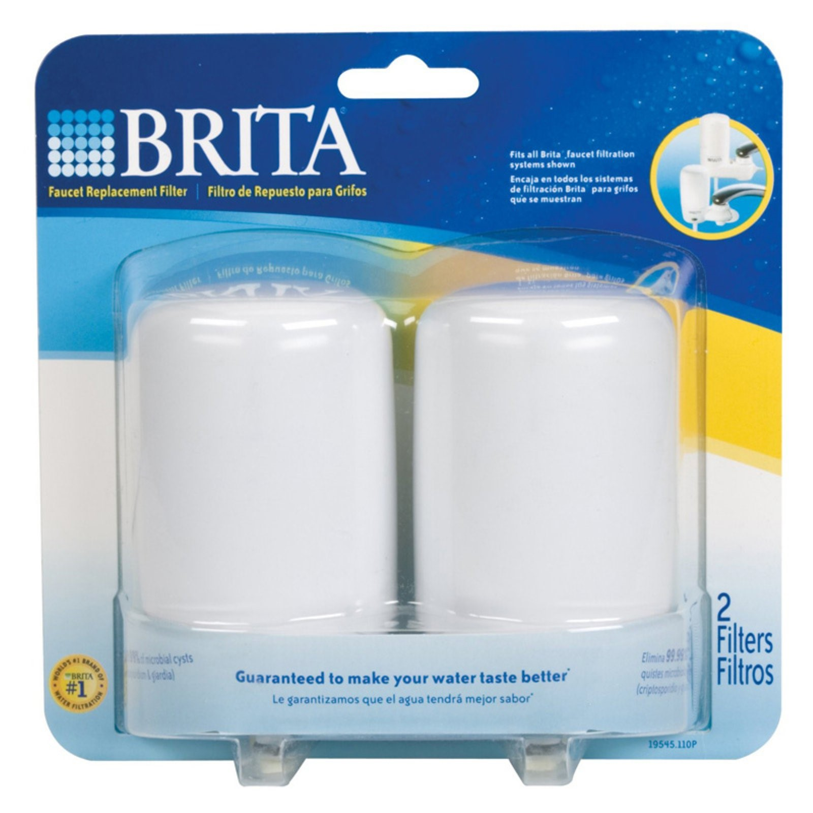 Brita On Tap Faucet Water Filter System Replacement Filters 2 pack ...