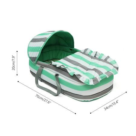 Baby Moses Basket Newborn Travel Bed Bassinet Carrier Cradle Comfortable W/ Hood - image 8 de 9