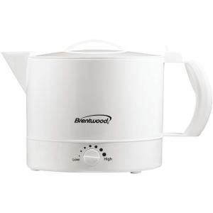 Brentwood Appliances 32 oz Plastic Hot Pot, White (Rival 4071 Wn 32 Ounce Hot Pot Express)
