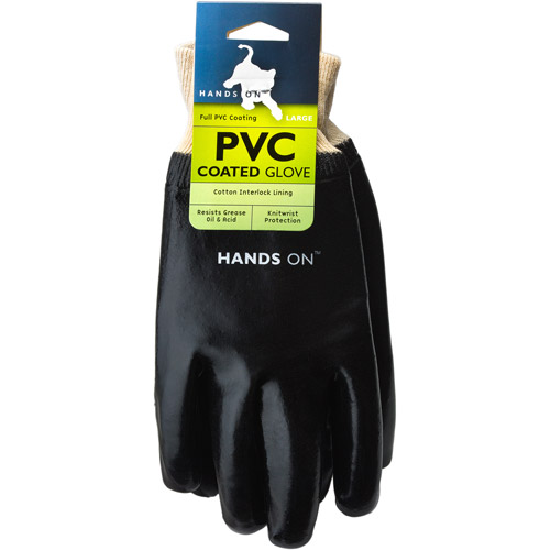 Hands On Fully Coated Black PVC Glove.